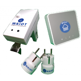 WaIoTFull Kit - Complete WaIoT SmartHub kit, 2 Smart Power Outlet, 1 FlowStop module, 1 FllowMeter module